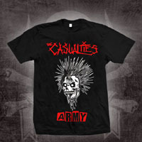 Casualties- Army on a black ringspun cotton shirt (Sale price!)