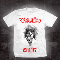 Casualties- Army on a white ringspun cotton shirt (Sale price!)