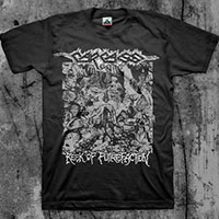 Carcass- Reek Of Putrefacation on a black shirt