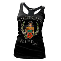 Fight Like A Girl Racerback Tank by Pinky Star