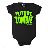 Future Zombie on a black onesie by Cartel Ink
