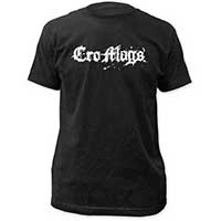 Cro Mags- Logo on a black ringspun cotton shirt