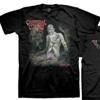 Cannibal Corpse- Vile on front & back on a black shirt