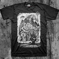 Dark Crystal- Collage (White Print) on a black shirt