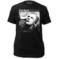 David Bowie- Hunky Dory on a black ringspun cotton shirt