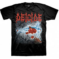Deicide- Once Upon The Cross on a black shirt