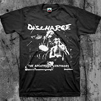 Discharge- The Nightmare Continues on a black shirt