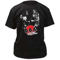 DOA- Something Better Change on a black shirt