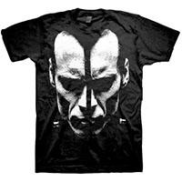 Doyle- Face on front, Logo on back on a black shirt (Misfits)