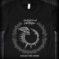 Extinction Of Mankind- Engage The Enemy on a black shirt (Sale price!)