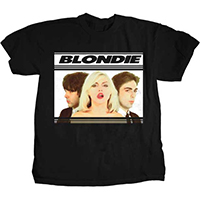 Blondie- Hot Lips Band Pic on a black ringspun cotton shirt