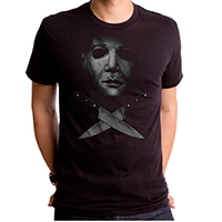 Halloween- Crossed Knives on a black ringspun cotton shirt by Goodie Two Sleeves