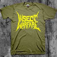 Insect Warfare- Yellow Logo on a black YOUTH sized shirt