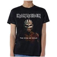 Iron Maiden- Book Of Souls on a black shirt (Sale price!)
