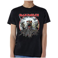 Iron Maiden- California Highway on a black ringspun cotton shirt