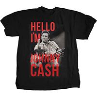 Johnny Cash- Finger (Hello I'm Johnny Cash) on a black ringspun cotton shirt