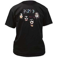 Kiss- First Album Cover (Faces) on a black shirt