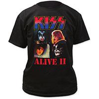 Kiss- Alive II on a black shirt