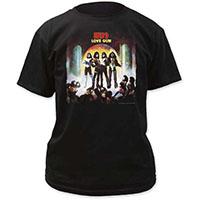Kiss- Love Gun on a black shirt