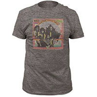 Kiss- Hotter Than Hell on a heather grey tri-blend shirt (Sale price!)