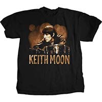 Keith Moon- Ready Steady Go (Drums Pic) on a black ringspun cotton shirt