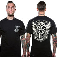 Flying High on a black shirt by Lucky 13 Clothing - SALE