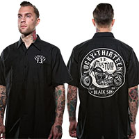 Black Sin Short Sleeve Workshirt by Lucky 13 - SALE sz 3X only