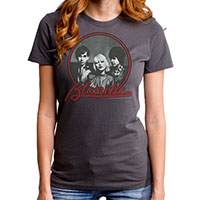 Blondie- Band Pic on a charcoal girls fitted shirt by Goodie Two Sleeves (Sale price!)