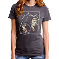 David Bowie- Vision on a charcoal girls fitted shirt by Goodie Two Sleeves (Sale price!)