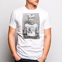 Blondie- Sailor Cap Pic on a white ringspun cotton shirt by Goodie Two Sleeves
