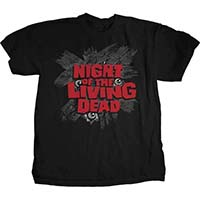 Night Of The Living Dead- Eyes on a black shirt