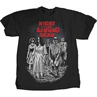 Night Of The Living Dead- Bloodthirsty Drawing on a black shirt