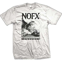 NOFX- How Did The Cat Get So Fat? on a white shirt