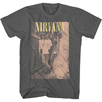 Nirvana- Alley Pic on a charcoal shirt