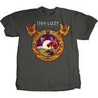 Thin Lizzy- Johnny The Fox on a charcoal ringspun cotton shirt