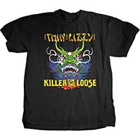 Thin Lizzy- Killer On The Loose on a black shirt