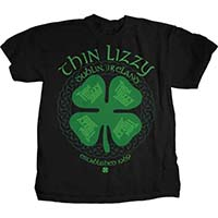 Thin Lizzy- Clover on a black shirt