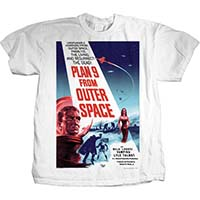 Plan 9 From Outer Space- Movie Poster on a white shirt