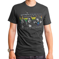 Pink Floyd- Dark Side Of The Moon Band Pic on a charcoal grey ringspun cotton shirt by Goodie Two Sleeves (Sale price!)