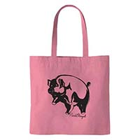 Pink Floyd- Pig on a pink tote bag