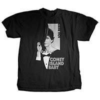 Lou Reed- Coney Island Baby on a black ringspun cotton shirt