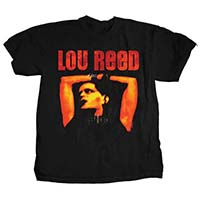 Lou Reed- Rock N Roll Animal on a black shirt