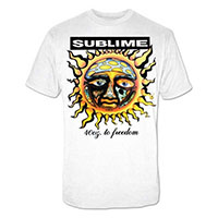 Sublime- 40oz To Freedom on a white shirt