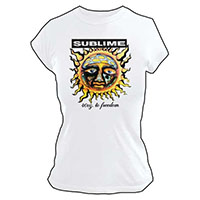 Sublime- 40oz To Freedom on a white girls shirt