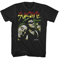 Sublime- Rasta Photo on a black ringspun cotton shirt