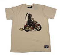Sailor Jerry - Reaper guys slim fit shirt - tan - SALE sz M only