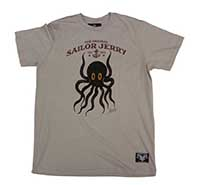 Sailor Jerry - Octopus guys slim fit shirt - silver - SALE sz 2X only