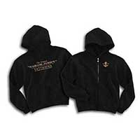 Original Sailor Jerry Guys Zip Up Hoody by Sailor Jerry - Black - SALE sz 2X only