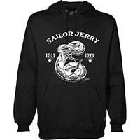 Rattler Pull Over Guys Hoody by Sailor Jerry - Black - SALE sz 2X only