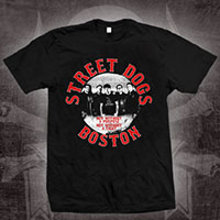 Street Dogs- Not Without A Purpose on a black ringspun cotton shirt (Sale price!)